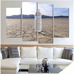 'Water in a Patched Desert' Wall Art