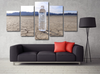 Image of 'Water in a Patched Desert' Wall Art