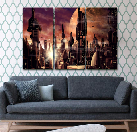 Alien City Wall Art