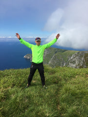 The author on a fantastic trip on the West Coast of Norway, summer 2016