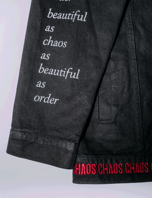 BEAUTIFUL CHAOS/ORDER - CUSTOMISED DENIM JACKET