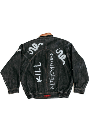 'KILL ONE' - CUSTOMISED DENIM JACKET