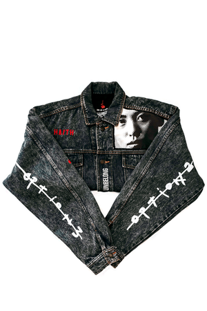 'LIPS' - CUSTOMISED DENIM JACKET