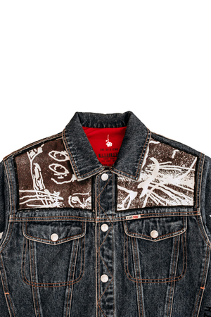 'PANTHER' - CUSTOMISED DENIM JACKET