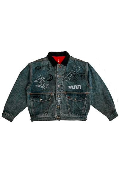 'SNAKE' - CUSTOMISED DENIM JACKET