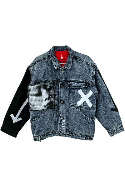 'STRIPES ONE' - CUSTOMISED DENIM JACKET