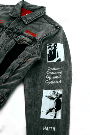 'STRIPES TWO' - CUSTOMISED DENIM JACKET