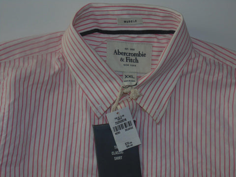 Abercrombie & Fitch pink stripes shirt - xxl mens - Branded Shirts Online