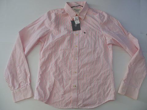 Abercrombie & Fitch pink stripes shirt - xxl mens NEW - S5668