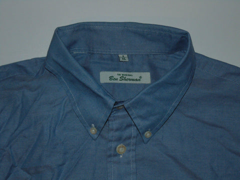 Ben Sherman blue shirt - xl mens, size 4 - S5575-Classic Clothing Crib
