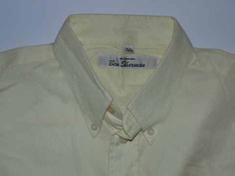 Ben Sherman yellow shirt - Large mens, size 3 - S5576