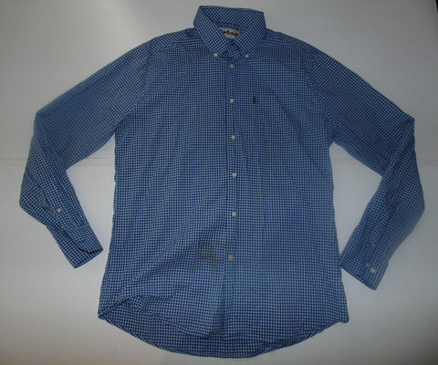Barbour blue checks shirt - large mens Tailored Fit NEW - S5692