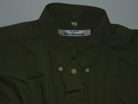 Ben Sherman green shirt - Large mens, size 3 - S5578-Classic Clothing Crib