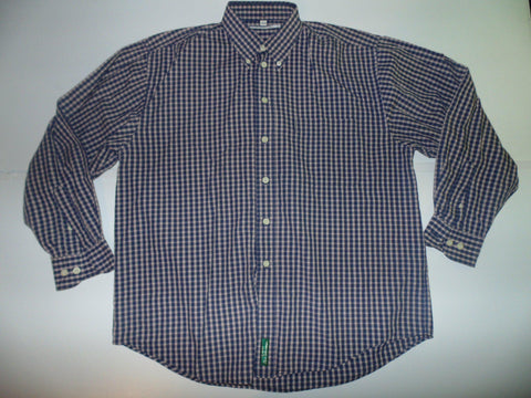 Ben Sherman red & blue checks shirt - Large mens, size 3 - S5579