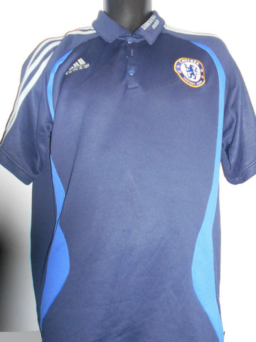 Chelsea Adidas polo shirt, Large mens. MA14-Classic Clothing Crib
