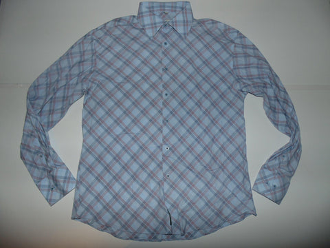 Ben Sherman red & blue checks shirt - Large mens, Size 3 - S5582-Classic Clothing Crib