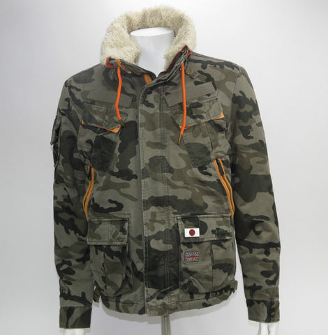Mens Superdry Military bomber jacket medium MS5HR179 coat - #VSA101-Classic Clothing Crib