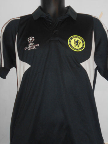 Chelsea Champions league polo shirt medium mens. MA212-Classic Clothing Crib