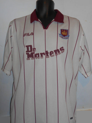 West Ham United Away Dr. Martens Football Shirt (2002/2003) large men's MA231-Classic Clothing Crib