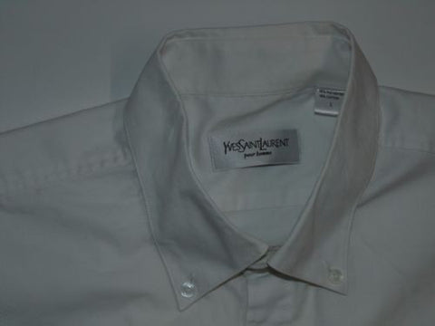 Yves Saint Laurent white short sleeves shirt - large mens, YSL - S5025