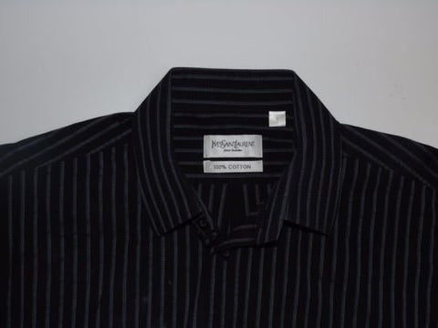 Yves Saint Laurent blue stripes shirt - large mens YSL - S4909