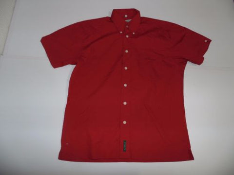 Ben Sherman red short sleeves shirt - medium mens, size 2 - S4960-Classic Clothing Crib