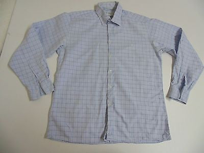 YSL Yves Saint Laurent blue checks shirt - large mens - S4835