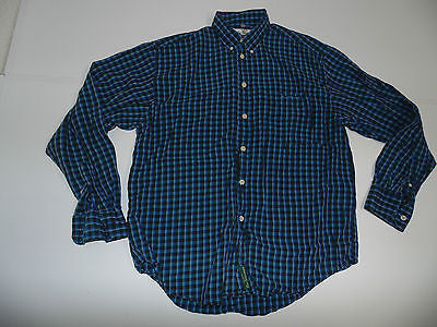 Ben Sherman blue checks Tencel shirt - medium mens, size 2 - S3567-Classic Clothing Crib