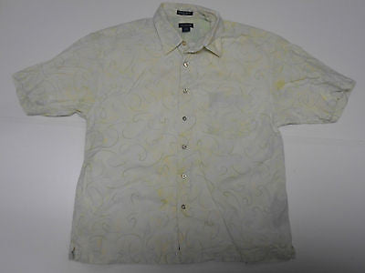 Gant green floral swirls short sleeves shirt, xxl mens, Hampton Poplin - S3275