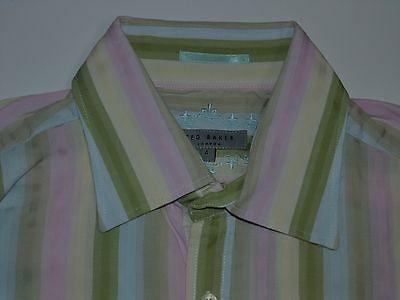 9fc63499e15e65 Ted Baker bubblegum stripes shirt - large mens
