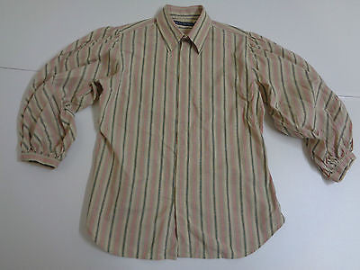 Ralph Lauren brown & red striped shirt, ladies size 12 NEW - S2032-Classic Clothing Crib