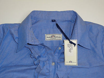 D&H Dubbin & Hollinshead blue long Victorian shirt, ladies size 10 NEW - S2012-Classic Clothing Crib