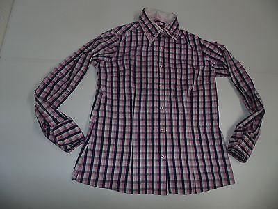 DANIEL ROSSO PINK CHECKS SHIRT, LADIES SIZE 14 - S4281-Classic Clothing Crib