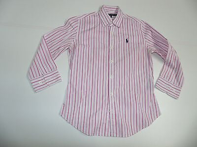 RALPH LAUREN PINK STRIPES SHIRT, LADIES SIZE 2 - S4415