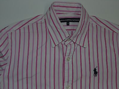 RALPH LAUREN PINK STRIPES SHIRT, LADIES SIZE 2 - S4415-Classic Clothing Crib