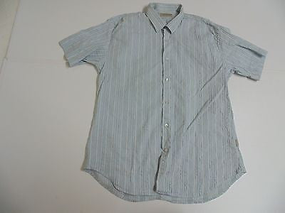 Ted Baker blue short sleeves shirt, xxl mens, size 6 stretch fit - S4796