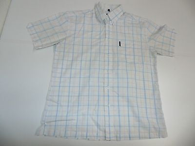 Ben Sherman blue window checks short sleeves shirt, medium mens, size 2 - S4367