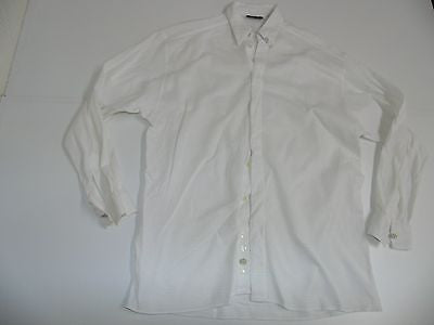 Versace Classic V2 white woven cotton netted shirt - medium mens - S4667