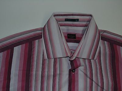 "Paul Smith pink stripes shirt  15.5"" / 39 mens NEW - S4854"