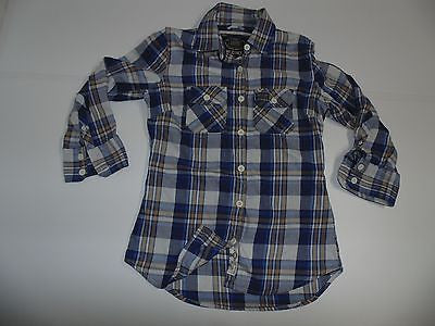 Superdry blue checks flannel shirt - medium ladies - S4725