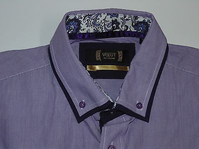 NEW Voeut Italy Collezioni purple shirt - large mens, size 4 slim fit - S4155