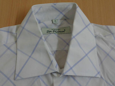 Ben Sherman white short sleeves, xl mens, size 4 - S1285-Classic Clothing Crib