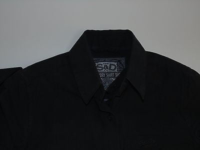 Superdry black dress style shirt - xs ladies - S4723-Classic Clothing Crib