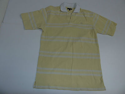 Burberry London yellow short sleeves polo shirt, large mens - S3311