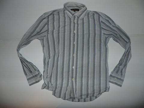 Ben Sherman grey stripes shirt - Medium mens - S5589