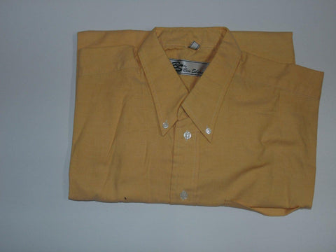 "Ben Sherman yellow short sleeves shirt 16.5"" / 42 mens - S436N"