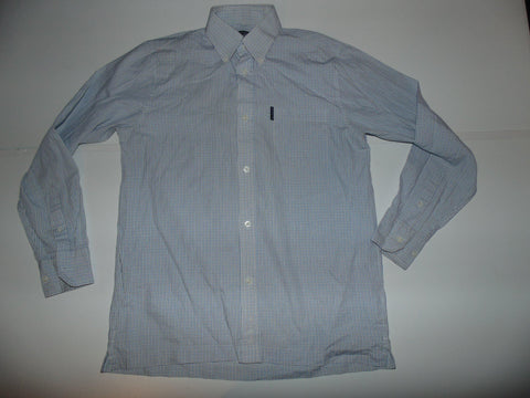 Ben Sherman blue check shirt - Small mens, size 1 - S5590-Classic Clothing Crib