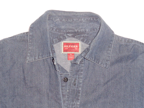 Tommy Hilfiger blue denim shirt - medium mens, red label - S5486