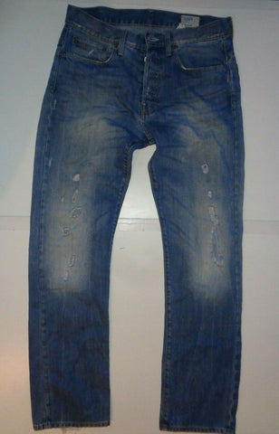 "G-Star aged blue jeans Waist 32"" x Leg 34"" mens 3301 straight-Classic Clothing Crib"