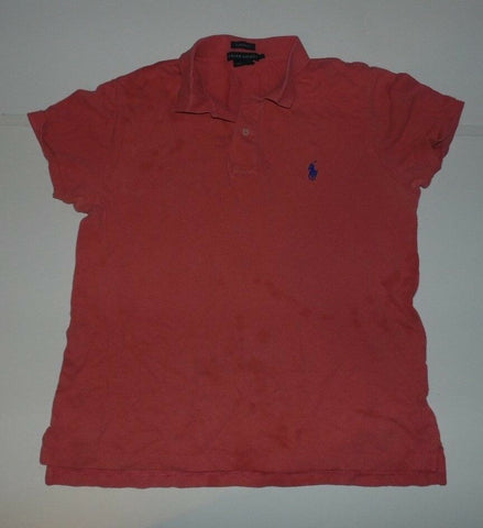 Ladies Ralph Lauren orange polo shirt, medium, large classic fit-Classic Clothing Crib